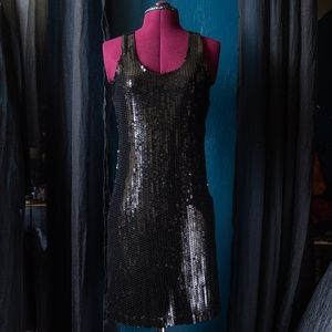Forever 21 Racerback Sequin Mini Party Dress M
